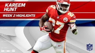 Rookie Kareem Hunt Continues His Dominance! | Eagles vs. Chiefs | NFL Wk 2 Player Highlights