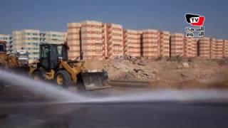 إجراء تجربة السيطرة علي السيول بمحافظة السويس بحضور المحافظ