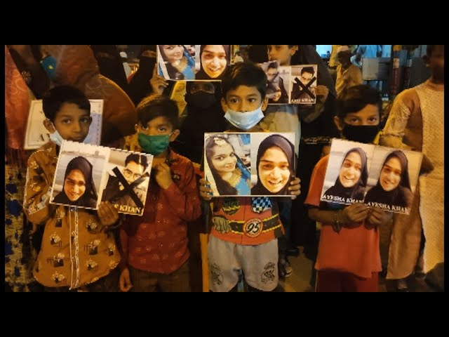 JUSTICE FOR AYESHA | PROTEST AT MUSLIM CHOWK DEMAND TO HANG AARIF KHAN
