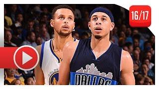 Stephen Curry vs Seth Curry BROTHERS Duel Highlights (2016.11.09) Warriors vs Mavericks - SICK!