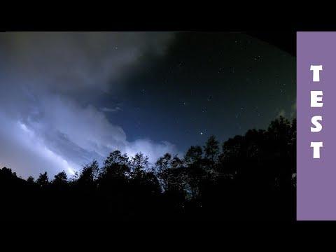 Night Storm - GoPro HERO 4 Night Lapse in 4K - Lightning storm, stars & clouds