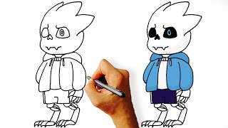 How to Draw Gaster Blaster Sans