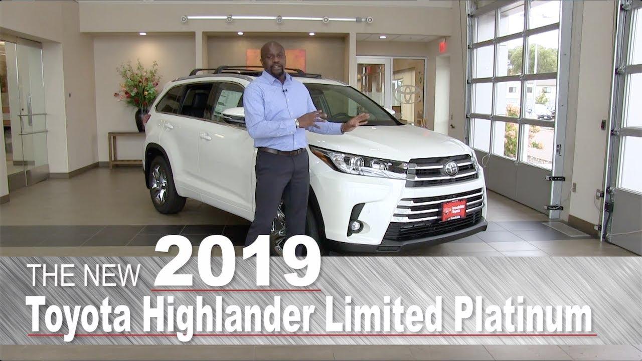 New 2019 Toyota Highlander Limited Platinum Mpls St Paul