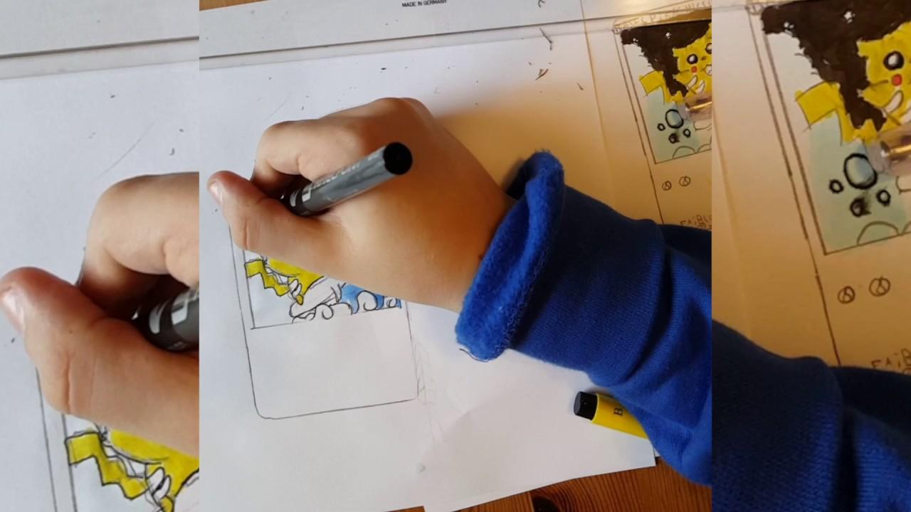 Comment dessiner une carte pokemon youtube - Dessiner pokemon ...