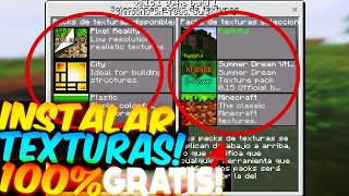 COMO INSTALAR TEXTURAS Y SKINS! GRATIS Minecraft PE 0.15.1 TEXTURE PACKS GRATIS