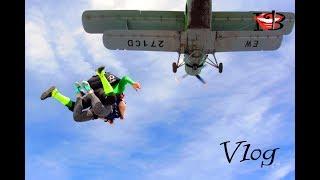 ПАДАЮ В НЕБО влог прыжок с парашютом в тандеме  Ирен Б