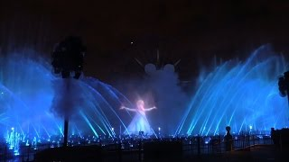Frozen Let It Go World of Color Celebrate sequence at Disneyland