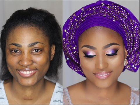 Nigerian Bride Wedding Introduction Makeover Makeup