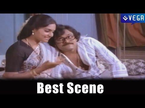 Intlo Ramayya Veedilo Krishnayya : Best Scene : Madhavi,Chiranjeevi