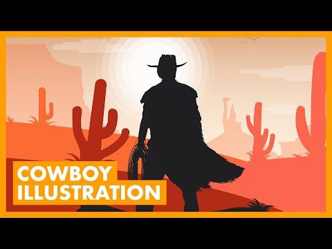 Create a Western Cowboy Illustration in Adobe Illustrator! thumbnail