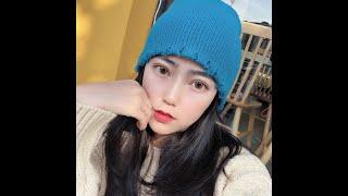 Женская вязаная шапка бини зимние теплые акриловые шапки с черепом модные в стиле хип хоп для женщин