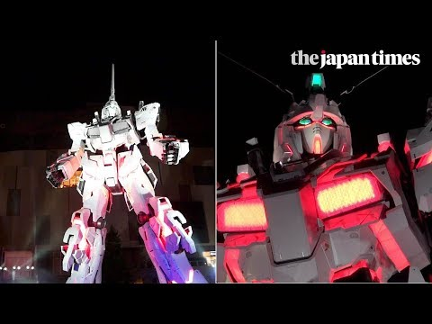 Opening ceremony for Japan's Unicorn Gundam statue in Odaiba