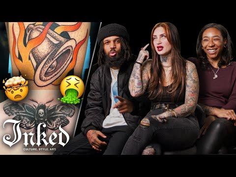 Tattoo Artists Judge Your Tattoos | Tattoo Artists React