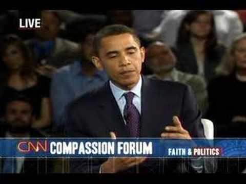 (5/5) Sen. Barack Obama at CNN Compassion Forum