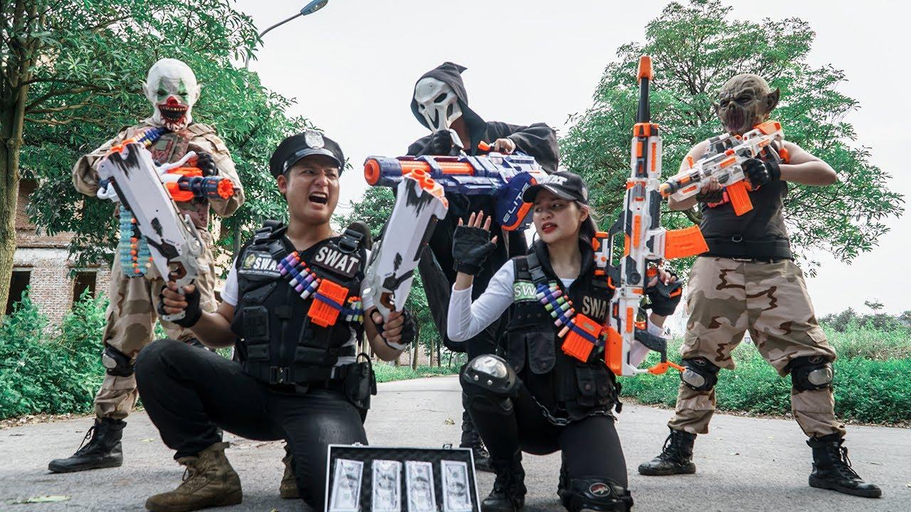 LTT Films : SQUAD Warriors S.E.A.L X Nerf Guns Fight Beast Army Mask & Money Heist