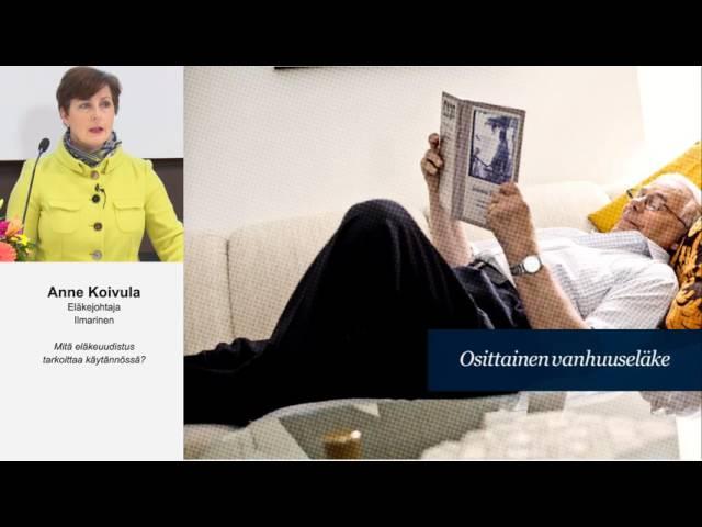 Eläkeuudistus 2017 - Mitä uudistus tarkoittaa käytännössä?