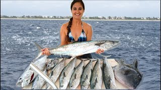 INSANE Offshore Fishing!! Tuna Tartare and Fish Salad- Catch and Cook!