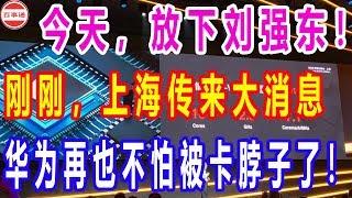 今天,放下刘强东!刚刚,上海传来大消息,华为再也不怕被卡脖子了!