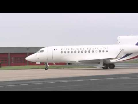 Video: French President  Francois Hollande arrives in Northern Ireland for G8 Summit