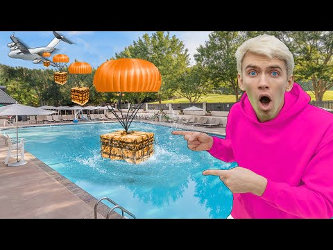 SPY PLANE SUPPLY DROP found in BACKYARD POOL!! (New Mystery Neighbor Secret Agent Revealed)