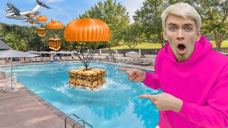 SPY PLANE SUPPLY DROP found in BACKYARD POOL!! (New Mystery Neighbor Secret Agent Revealed)