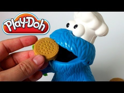 Play Doh Cookie Monster Letter Lunch Mold Cookies Sesame Street Playset playdough by lababymusica