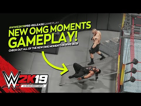WWE 2K19: All New OMG Moments Gameplay! (Cage Breakout, Multiple AA's & More!)