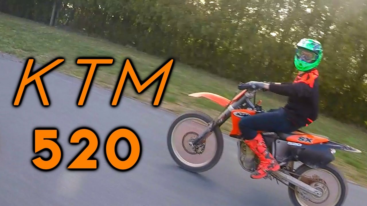riding a ktm 520 sx [ 1280 x 720 Pixel ]