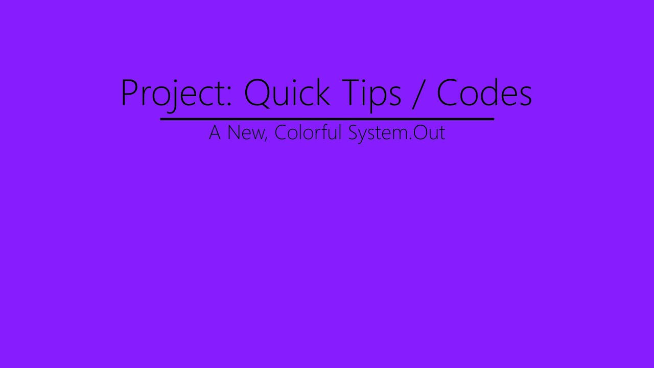 Adding Color To Systemoutprint