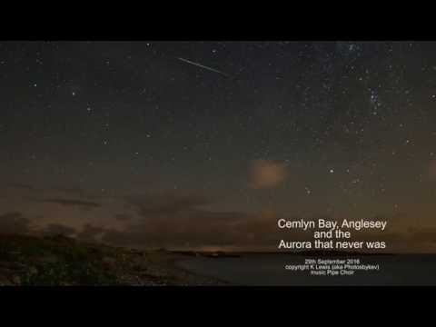 Cemlyn bay timelapse and the aurora that never happened 29/09/16