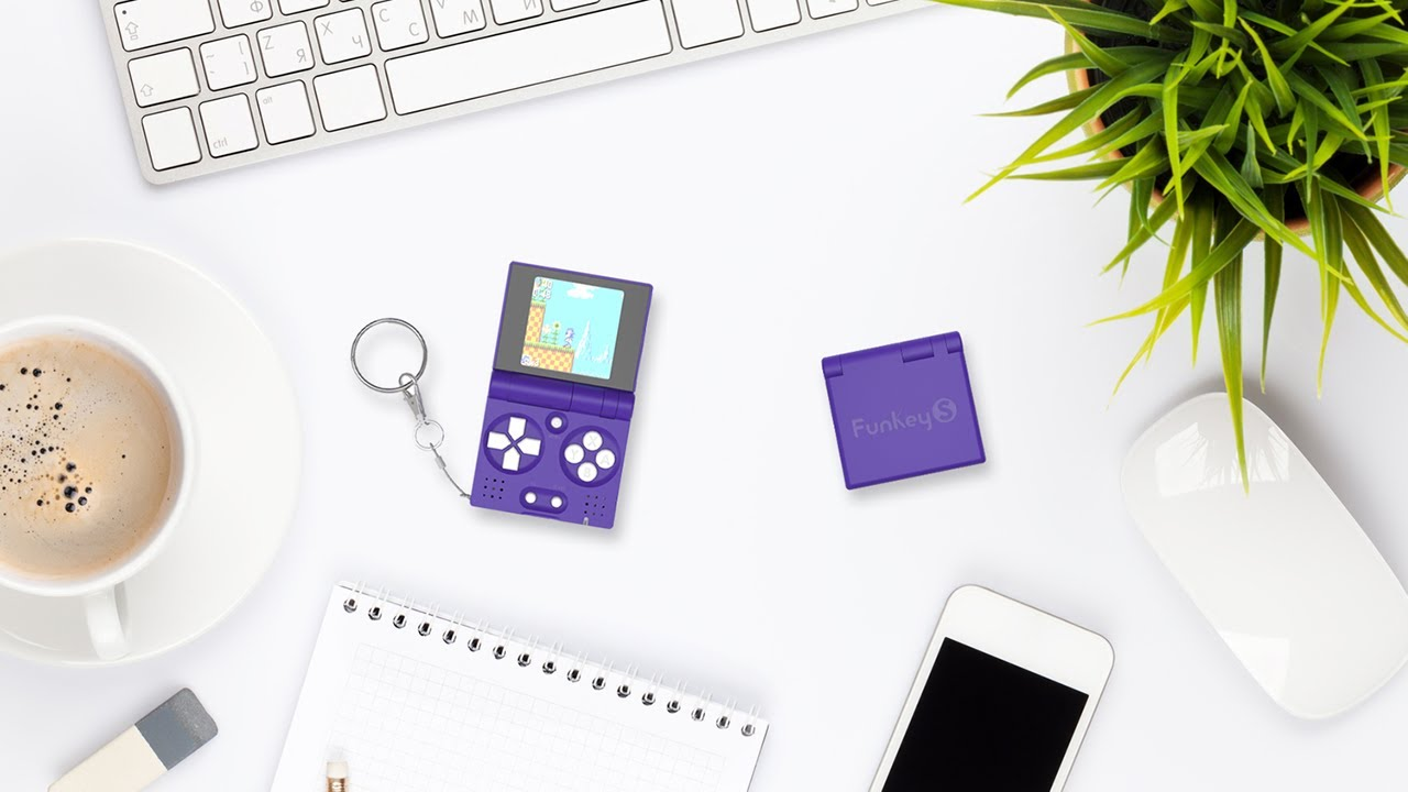 FunKey S - the world's smallest foldable handheld console