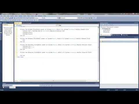 How to make a simple shopping list program using Visual Studio 2010