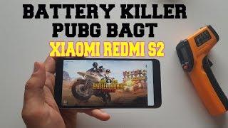 Xiaomi Redmi S2 Battery killer test/gaming PUBG Mobile! BAGT 60 FPS SOT! Heating test/drain