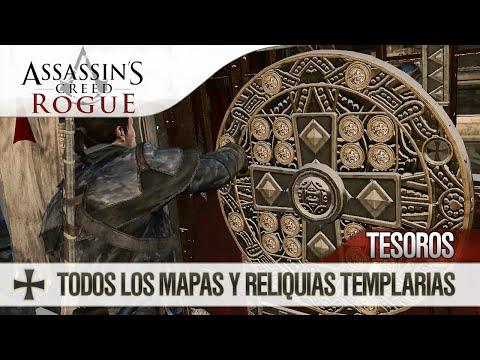 Assassin's Creed Rogue | Localización Mapas del Tesoro | Reliquias Templarias | Caballero de Antaño