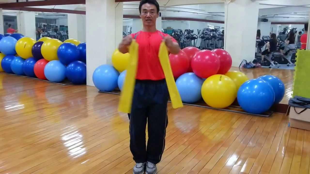 快速又有效率的彈力帶胸肌與背肌訓練 - YouTube