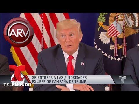 Exjefe de la campaña de Trump se entrega al FBI | Al Rojo Vivo | Telemundo