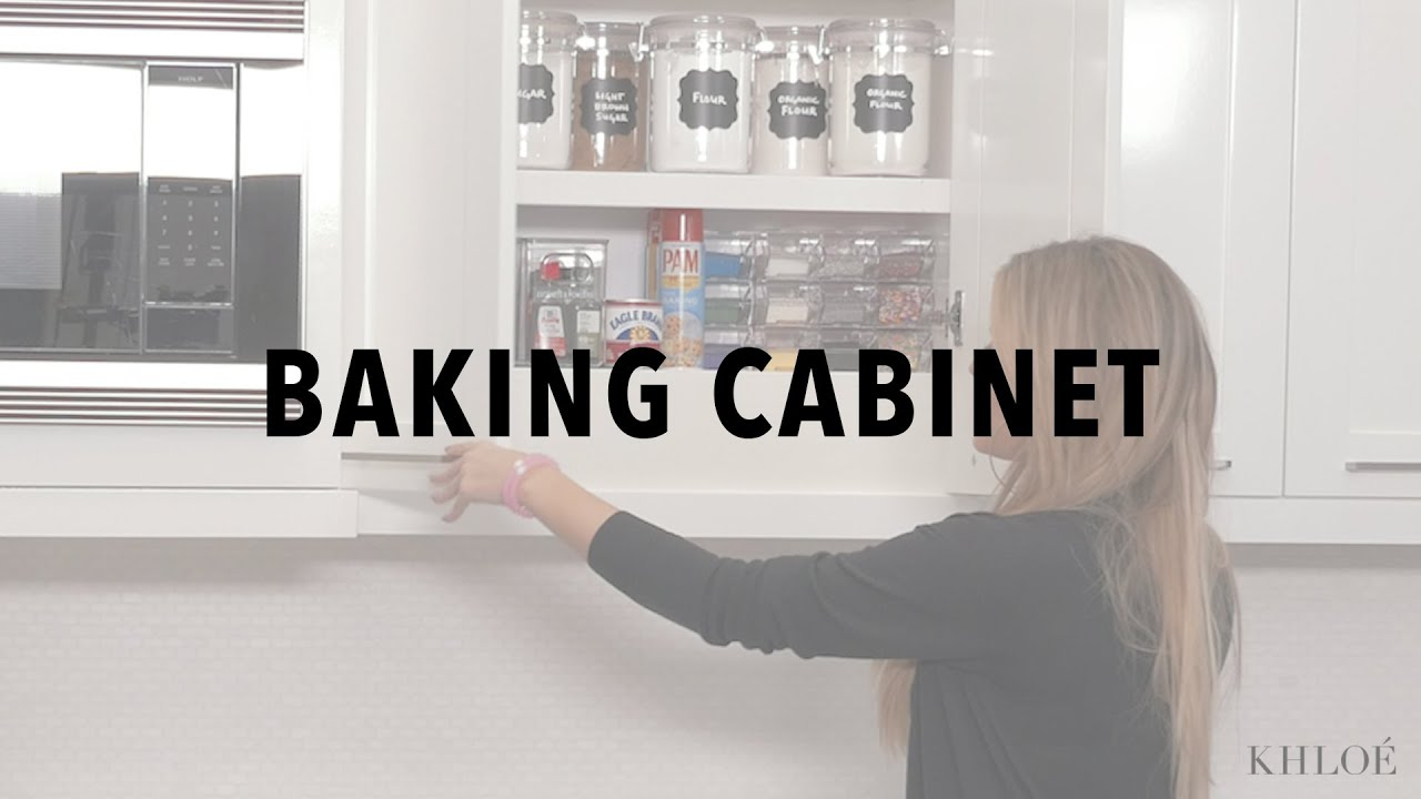 KHLO-C-D: Not to Brag, But My Baking Cabinet is #Goals - YouTube