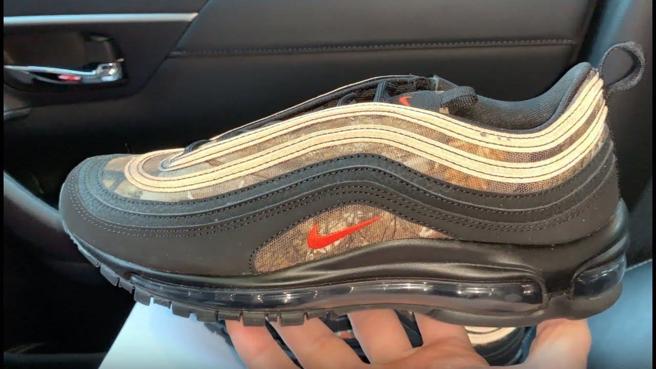 695989f47b2df Nike Air Max 97 Realtree Camo Shoes - YouTube
