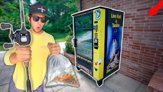 Live Minnow VENDING MACHINE Fishing Challenge!! (EPIC!)
