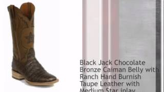 Black Jack Caiman Belly And Ranch Hand Leather Cowboy Boots - Timsboots.com