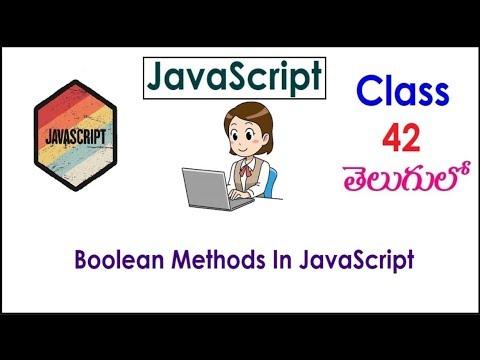 Boolean Method In JavaScript Training Videos In Telugu 42 I JavaScript Tutorials I Training thumbnail
