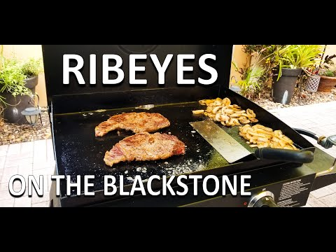 """ribeyes-on-the-blackstone-22""""-griddle- -cooking-with-big-cat-305"""
