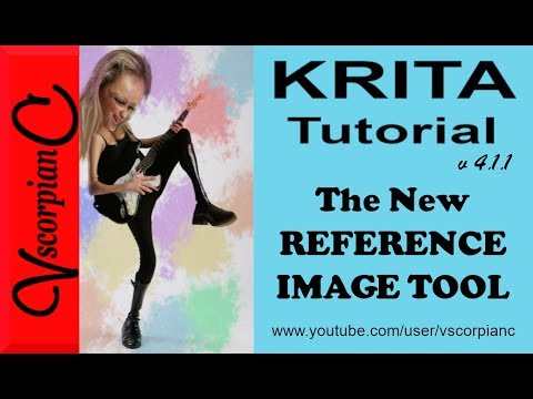 Krita Tutorial - (4.1.1) How to Use The New Reference Image Tool by VscorpianC