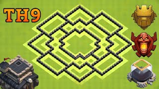 THE BEST TH9 WAR BASE - CHERRY GAMER CLASH OF CLANS