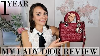 MY LADY DIOR ONE YEAR REVIEW || WEAR & TEAR