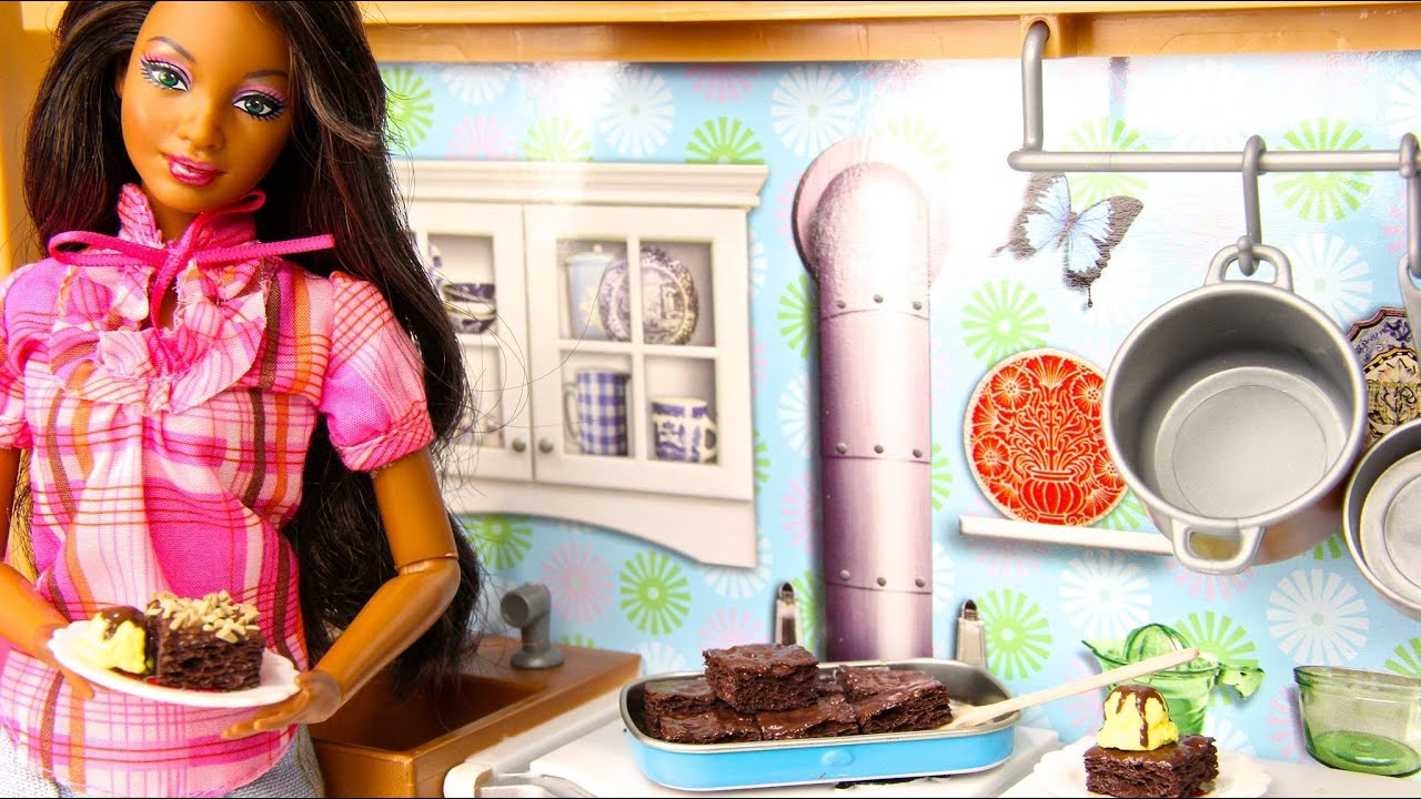 How To Make Doll Brownies Amp Icecream Doll Crafts Youtube
