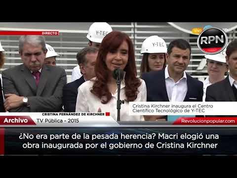 Pesada herencia: Macri elogió una obra hecha por CFK y mintió sobre el CONICET actual