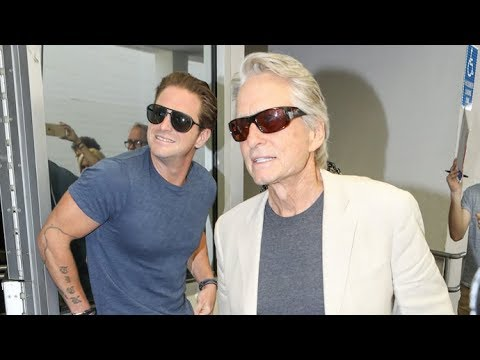 Michael Douglas And Buff Son Cameron Looking Healthy And Happy At Lunch