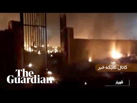 Iran Plane Crash: Footage Appears To Show Burning Wreckage