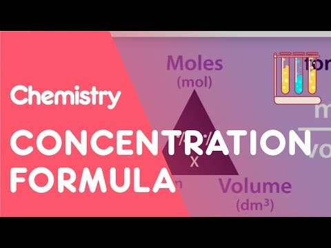 Concentration Formula & Calculations | Chemical Calculations | Chemistry | Fuse School